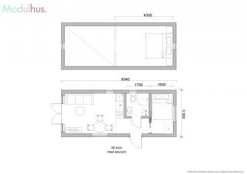 Filippa 30m² med sovrum