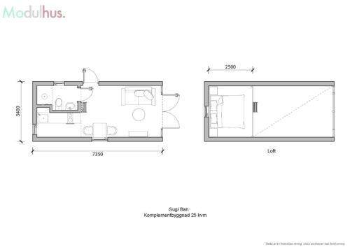 Villa Sugi Ban 25kvm Planlösning