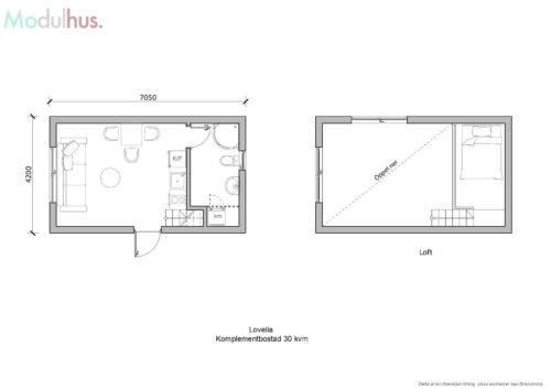 Villa Lovelia 30 kvm Planlösning