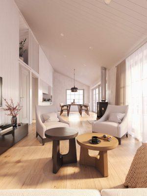 Villa Blanka 86kvm interiör